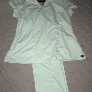 Greys anatomy mint green XL scrub set